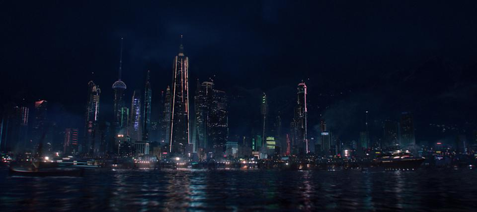 A view of Madripoor from Marvel Studios' THE FALCON AND THE WINTER SOLDIER exclusively on Disney+. Photo courtesy of Marvel Studios. ©Marvel Studios 2021. All Rights Reserved.