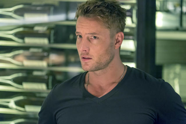 <p>Justin Hartley as Kevin Pearson in NBC's <i>This Is Us</i>.<br>(Photo: Ron Batzdorff/NBC) </p>
