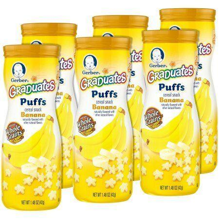 """<p>$12</p><p><a class=""""link rapid-noclick-resp"""" href=""""https://www.walmart.com/ip/Gerber-Graduates-Puffs-Cereal-Snack-Banana-Naturally-Flavored-with-Other-Natural-Flavors-1-48-Ounce-6-Count/44923313"""" rel=""""nofollow noopener"""" target=""""_blank"""" data-ylk=""""slk:BUY NOW"""">BUY NOW</a><br></p><p>Virginia is for <del>lovers</del> <strong>baby puffs cereal</strong>.</p>"""