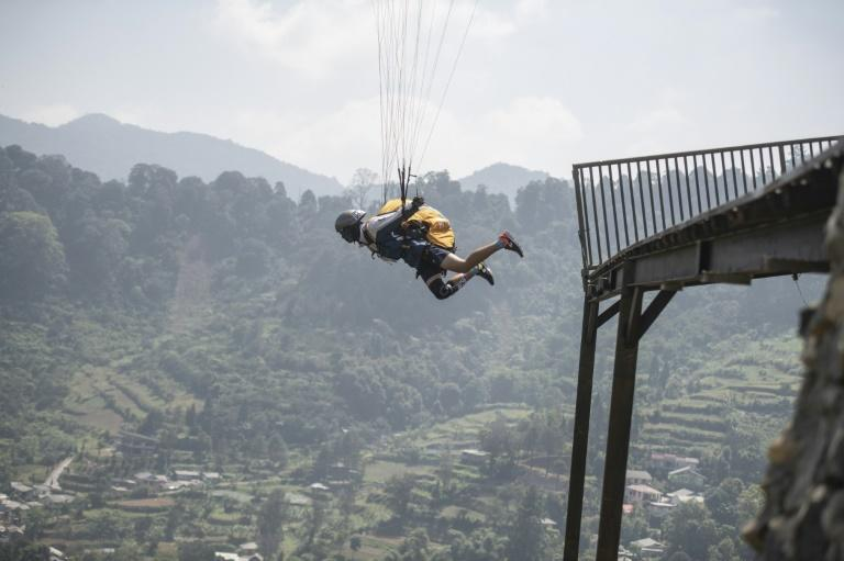 Paragliding is making its debut at the Asian Games