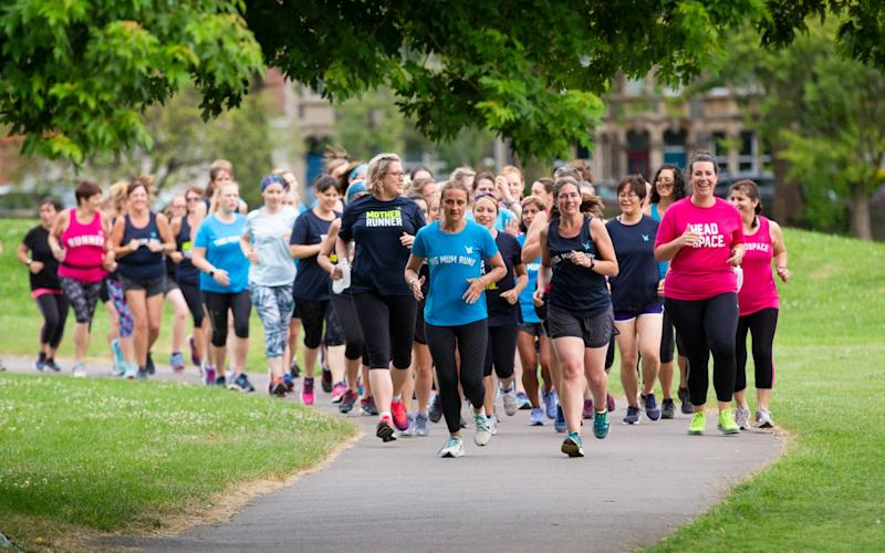 Mel Bound leads the This Mum Runs group in Bristol - Andrew Fox