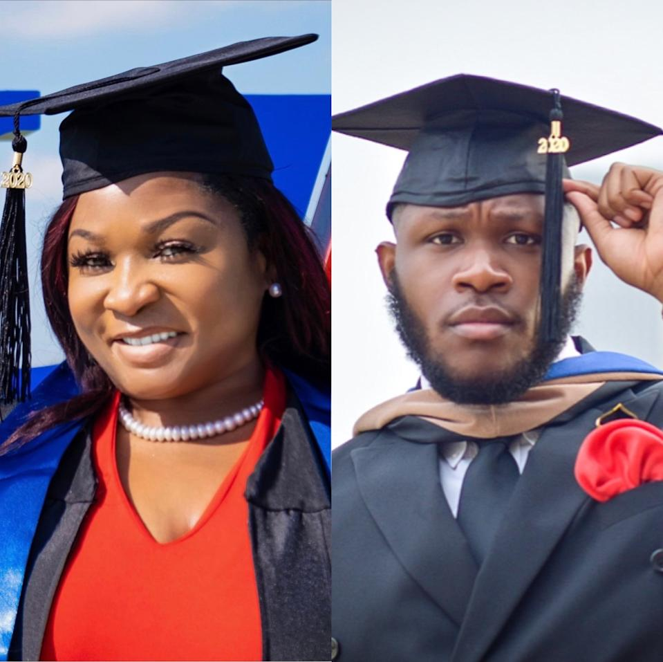 Renita Gray surprised her family when she presented invitations to her college graduation, the very same ceremony as her son, Anthony Taylor. (Photo courtesy of Anthony Taylor)