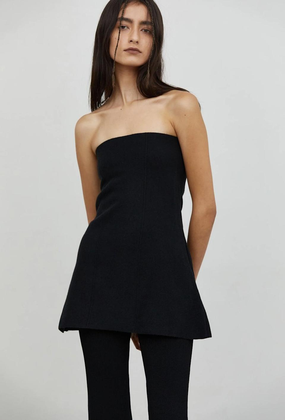 <p><span>Source Unknown Strapless Bustier Knit Top</span> ($76)</p>