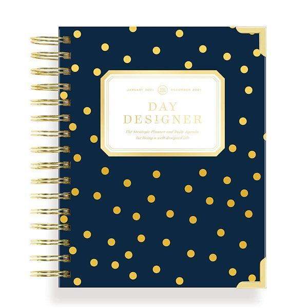 "If you like to schedule down your days by hour, this planner from Day Designer features daily dated planning pages timed from 5 AM to 9 PM. $54, Amazon. <a href=""https://www.amazon.com/Day-Designer-Planner-Hardcover-Twin-Wire/dp/B08DDH7TQH?ref_=ast_sto_dp"" rel=""nofollow noopener"" target=""_blank"" data-ylk=""slk:Get it now!"" class=""link rapid-noclick-resp"">Get it now!</a>"