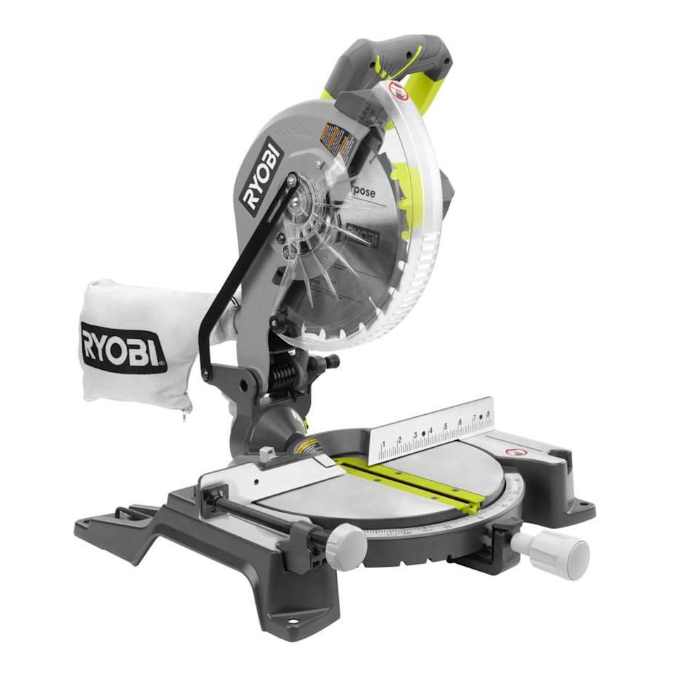 "<p><strong>RYOBI</strong></p><p>homedepot.com</p><p><a href=""https://go.redirectingat.com?id=74968X1596630&url=https%3A%2F%2Fwww.homedepot.com%2Fp%2FRYOBI-15-Amp-10-in-Sliding-Compound-Miter-Saw-TSS103%2F306939218&sref=https%3A%2F%2Fwww.redbookmag.com%2Flife%2Fg34807098%2Fbest-black-friday-deals-tools%2F"" rel=""nofollow noopener"" target=""_blank"" data-ylk=""slk:Shop Now"" class=""link rapid-noclick-resp"">Shop Now</a></p><p>Save $40 on this miter saw that comes with a three-year warranty. The 15-amp motor easily powers the 10-inch blade through heavy-duty material, and the saw features an electric brake that can quickly stop the spinning.</p>"