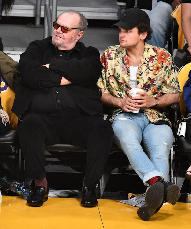 Jack Nicholson Joined By Son Ray As He Watches His Favorite Team The Los Angeles Lakers Lose Monk and the garbage strike. https news yahoo com jack nicholson joined son ray 153240731 html