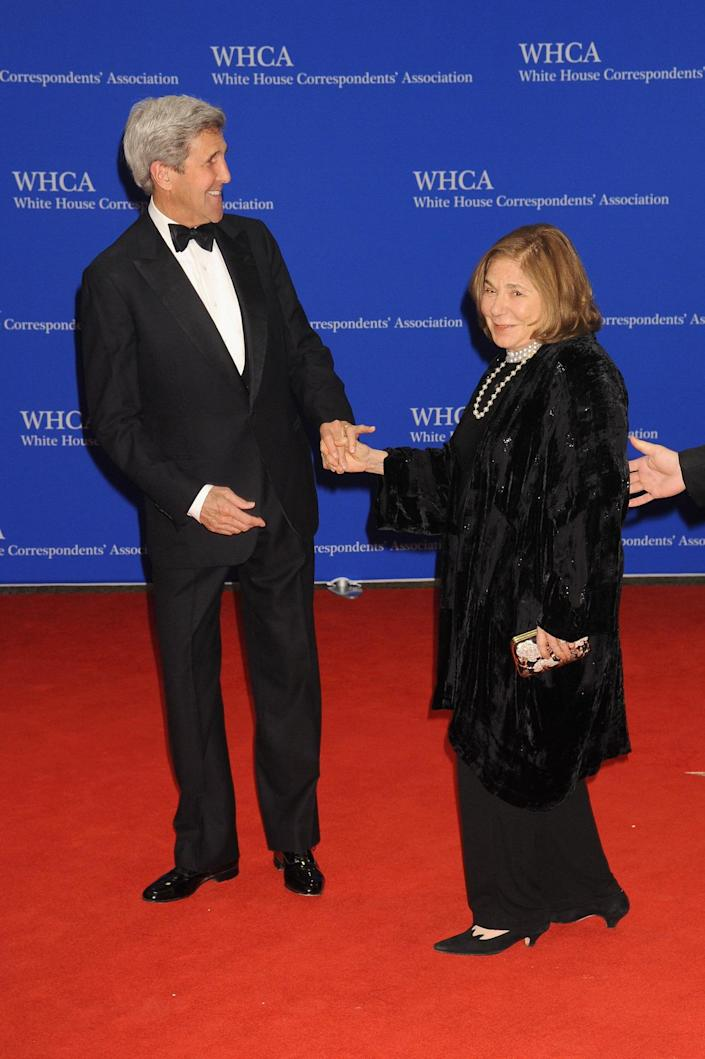 <p>Secretary of State John Kerry and his wife, Teresa Heinz, attend the 102nd White House Correspondents' Dinner, April 30.<i> (Photo: Kris Connor/FilmMagic)</i></p>
