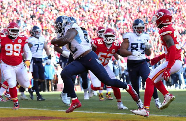 The Titans posted 106 yards of offense Sunday before the Chiefs logged their first. (Tom Pennington/Getty Images)