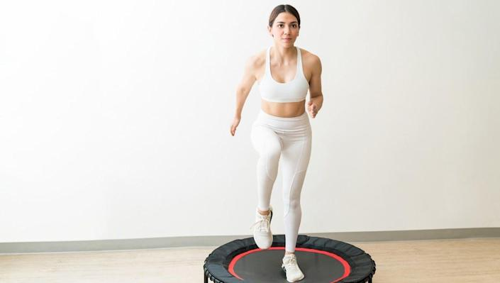 Jump into a new fitness routine with a mini trampoline