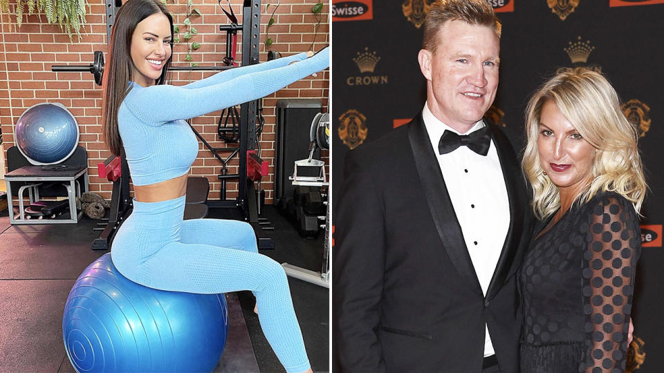 Nathan Buckley, pictured here with ex-wife Tania.
