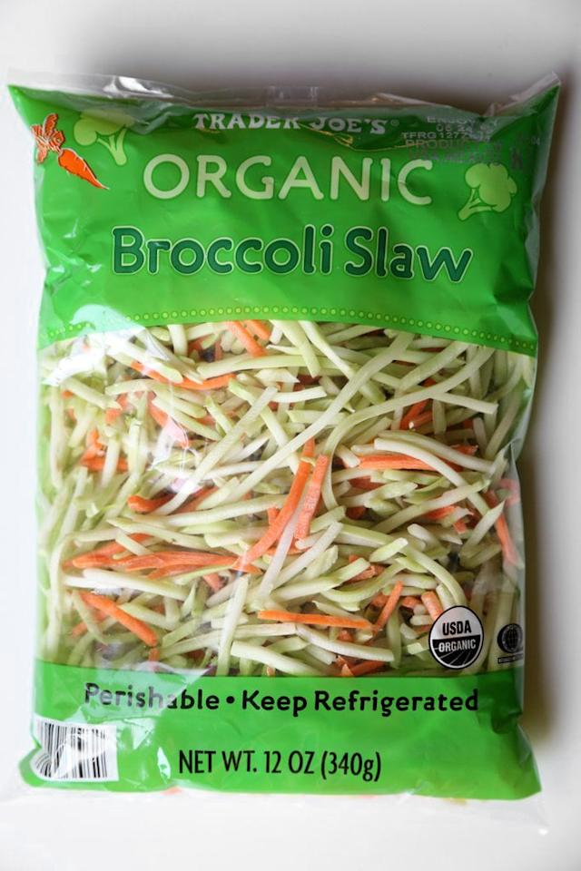 """<p>This crunchy and colorful veggie blend is easy to throw in a salad or on a sandwich, but it also makes a great base for a more substantial dish. Enjoy the mix cold in a <a href=""""https://www.popsugar.com/fitness/Healthy-Low-Carb-Coleslaw-Recipe-46052004"""" class=""""ga-track"""" data-ga-category=""""Related"""" data-ga-label=""""https://www.popsugar.com/fitness/Healthy-Low-Carb-Coleslaw-Recipe-46052004"""" data-ga-action=""""In-Line Links"""">healthy coleslaw </a> or hot in a <a href=""""https://www.cookingforkeeps.com/spicy-chicken-burgers-with-wasabi-coleslaw/"""" target=""""_blank"""" class=""""ga-track"""" data-ga-category=""""Related"""" data-ga-label=""""https://www.cookingforkeeps.com/spicy-chicken-burgers-with-wasabi-coleslaw/"""" data-ga-action=""""In-Line Links"""">spicy chicken burger</a>.</p>"""