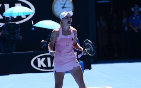 <span>Ashleigh Barty overcame a wobble to see-off Sharapova</span> <span>Credit: Getty Images </span>