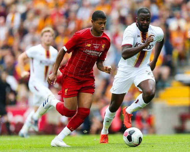 Striker Rhian Brewster offers a glimpse into Liverpool's future (Barrington Coombs/PA)