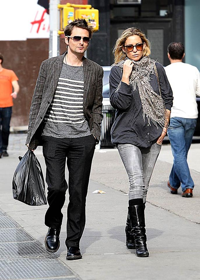 """<i>The Sun</i> reports that Kate Hudson and Muse frontman Matt Bellamy """"got engaged in secret."""" According to the newspaper, the couple -- who are expecting their first child together -- recently """"hosted a family party at a London hotel."""" Adds the <i>Sun</i>, """"They kept their engagement secret as they wanted to celebrate with their nearest and dearest before it became public knowledge."""" For details on when they got engaged and how Bellamy popped the question, read what Hudson herself reveals on <a href=""""http://www.gossipcop.com/kate-hudson-engaged-matt-bellamy-graham-norton/"""" target=""""new"""">Gossip Cop</a>. Saleem Elatab-AhmadElatab/<a href=""""http://www.splashnewsonline.com"""" target=""""new"""">Splash News</a> - January 24, 2010"""