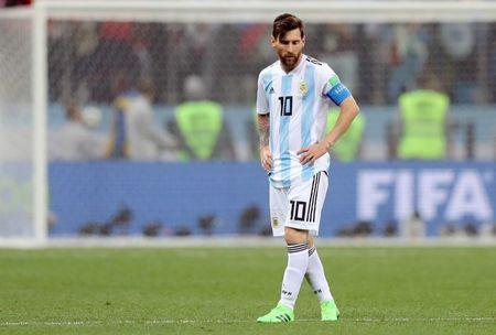 Argentina's Lionel Messi looks dejected after the match. REUTERS/Ivan Alvarado