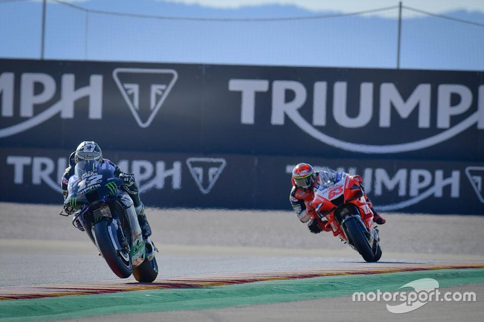 "Maverick Viñales, Yamaha Factory Racing, Francesco Bagnaia, Pramac Racing<span class=""copyright"">MotoGP </span>"