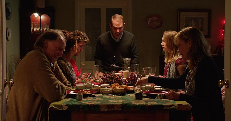 """<p><strong>Await Further Instructions</strong> is a mega scary British film that you have to see to believe. A lockdown situation occurs at a family reunion when a spirit traps them in their home and gives commands through their TV to escape. </p> <p>Watch <a href=""""http://www.netflix.com/title/81005266"""" class=""""link rapid-noclick-resp"""" rel=""""nofollow noopener"""" target=""""_blank"""" data-ylk=""""slk:Await Further Instructions""""><strong>Await Further Instructions</strong></a> on Netflix now.</p>"""