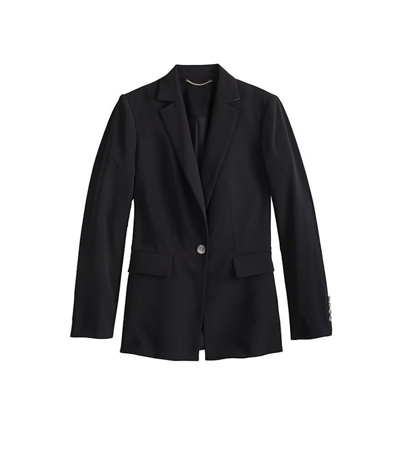 Ann Taylor Long Two-Button Blazer in Seasonless Stretch (Photo: Ann Taylor)