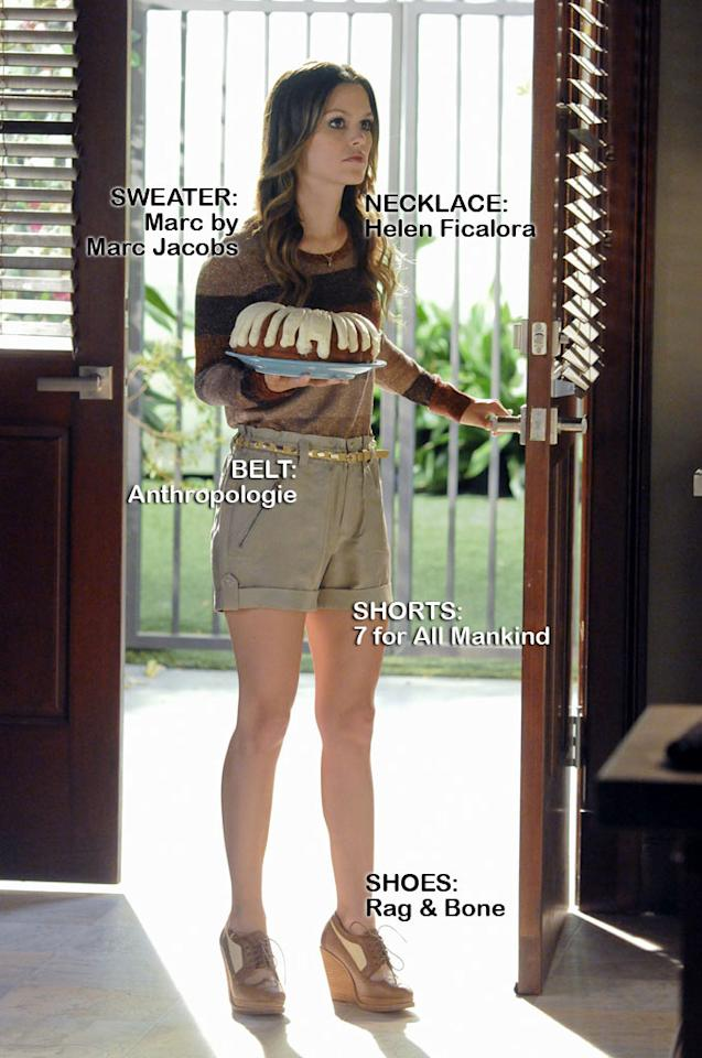 "<a>Rachel Bilson</a> as Dr. Zoe Hart in the Season 1 episode ""Faith & Infidelity."""
