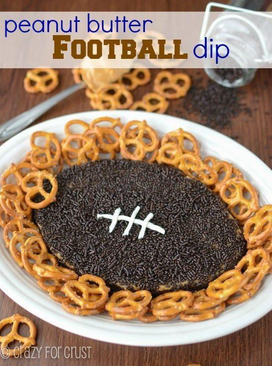 """<p>There's peanut butter, cream cheese, and butter in this sinfully good dessert dip that's shaped like a football.</p><p><strong>Get the recipe at <a href=""""https://www.crazyforcrust.com/peanut-butter-football-dip/"""" rel=""""nofollow noopener"""" target=""""_blank"""" data-ylk=""""slk:Crazy for Crust"""" class=""""link rapid-noclick-resp"""">Crazy for Crust</a>.</strong></p><p><strong><a class=""""link rapid-noclick-resp"""" href=""""https://www.amazon.com/Hamilton-Beach-62682RZ-Mixer-Snap/dp/B001CH0ZLE/?tag=syn-yahoo-20&ascsubtag=%5Bartid%7C10050.g.5080%5Bsrc%7Cyahoo-us"""" rel=""""nofollow noopener"""" target=""""_blank"""" data-ylk=""""slk:SHOP HAND MIXERS"""">SHOP HAND MIXERS</a><br></strong></p>"""