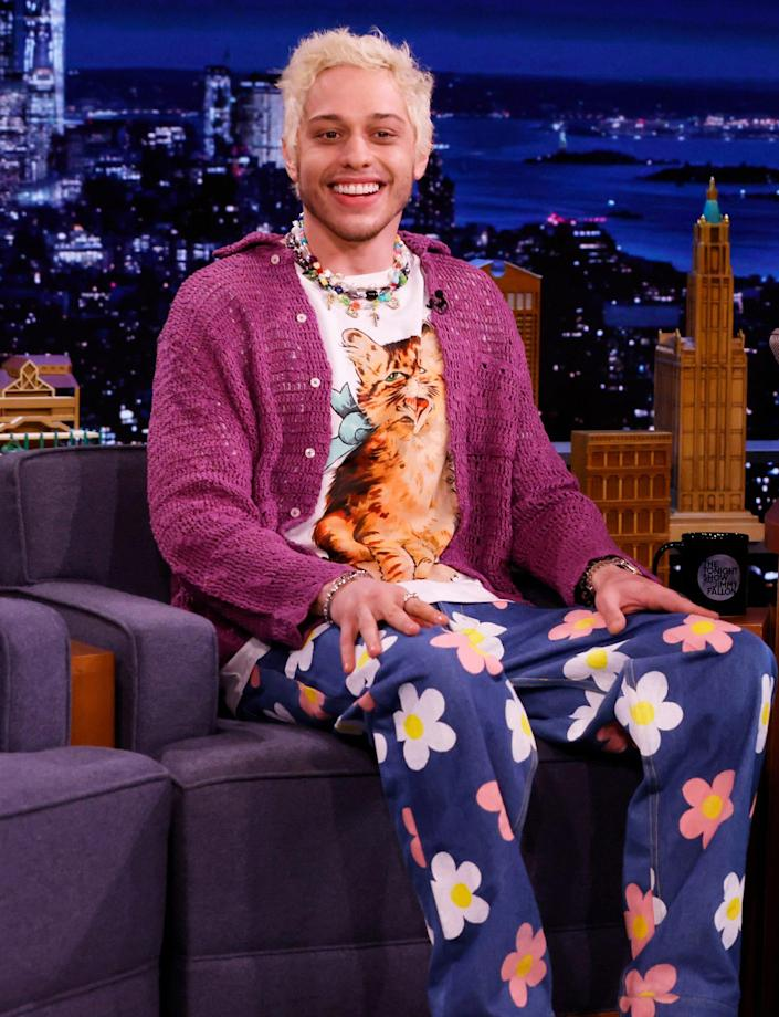 <p>Pete Davidson sports a colorful ensemble on Sept. 8 during a visit to <em>The Tonight Show</em> in New York City.</p>