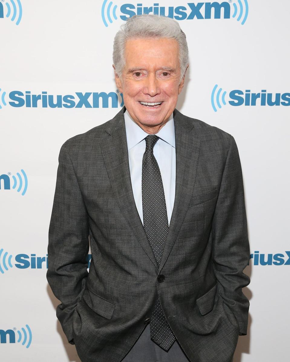 "<p>The famed <a href=""https://www.popsugar.com/celebrity/regis-philbin-dead-47644544"" class=""link rapid-noclick-resp"" rel=""nofollow noopener"" target=""_blank"" data-ylk=""slk:television host died of natural causes"">television host died of natural causes</a> at age 88 on July 24.</p>"