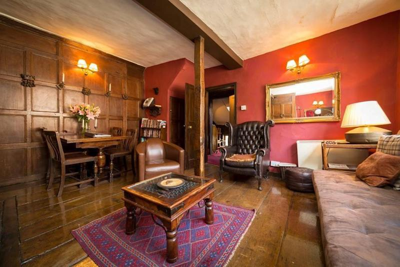 The Haunted Chamber apartment boasts a four-poster bed (House of the Trembling Madness)