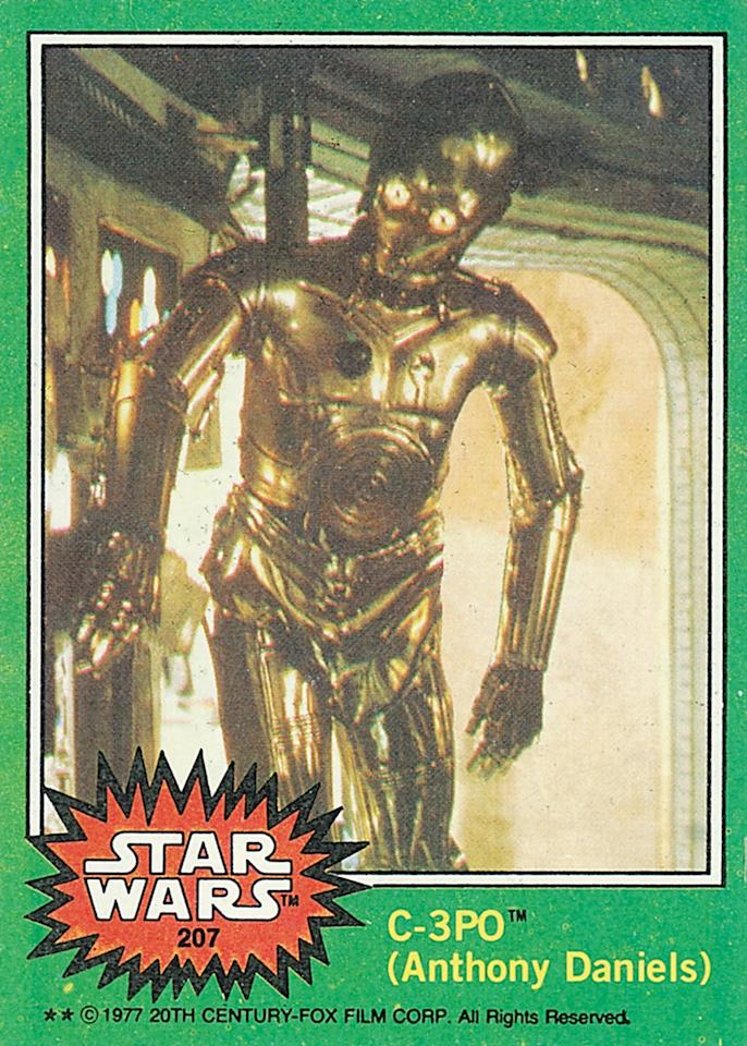 """<p>Once the""""anomaly"""" came to light, Topps airbrushed and re-released a G-rated card. Gerani, who says he's asked about this card more than any other, explains the second card is actually the rarer item sought out by collectors because it had a more limited print run.<i>(Credit: Abrams ComicArts and Lucasfilm, LTD 2015)</i></p>"""