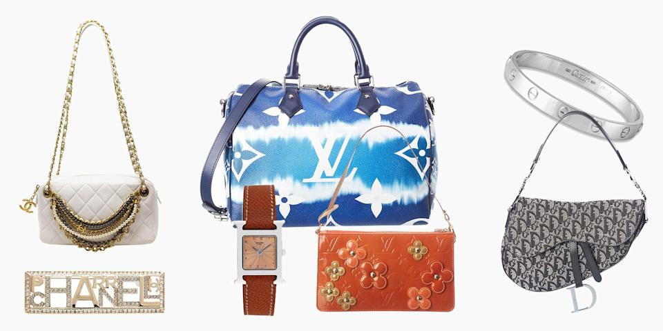 """<p>Resale shopping is the future, and vintage handbags are where to start. Plus, they say an Hermès Birkin holds its value better than gold, so consider this a serious investment. We have a guide on the best sites to shop <a href=""""https://www.elle.com/fashion/news/a38458/good-places-buy-secondhand-bags/"""" rel=""""nofollow noopener"""" target=""""_blank"""" data-ylk=""""slk:secondhand"""" class=""""link rapid-noclick-resp"""">secondhand</a>, but lucky for you, <a href=""""https://www.gilt.com/boutique/176385/?deeplink=false&subid=120661&partner=ebay&utm_medium=affiliate&utm_content=120661&creative=2-386520&utm_campaign=gilt&clickId=3525165372&utm_source=EEAN&dsi=BTQ--d2f507c2-5e61-415b-86a5-651a0581c3d2&lsi=51eae45d-cce7-4e08-9f51-dcbe53988a84"""" rel=""""nofollow noopener"""" target=""""_blank"""" data-ylk=""""slk:Gilt just launched a luxury sale"""" class=""""link rapid-noclick-resp""""><strong>Gilt </strong><strong>just launched a luxury sale</strong></a> that has all the goods, with prices slashed on designers' standard retail value. Do you dream of 2000s-era Louis Vuitton? There's a tangerine pochette made for you. Or maybe you never got a chance to shop Pharrell's collaboration with Chanel. Now is the time to score an accessory from the limited edition collection. And if you have cash to burn, there's a vintage Birk calling your name (for a cool $36,000, that is). It's all there, plus more. Ahead, shop our top picks from Gilt's ultimate sale. </p>"""