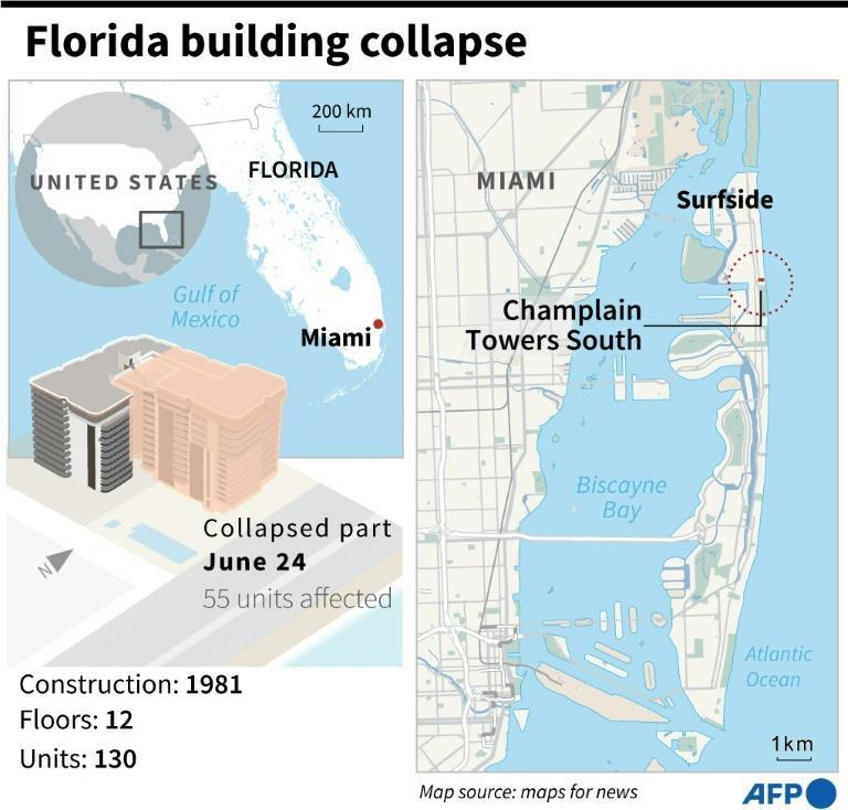 Factfile on the apartment building that collapsed in Florida in the early hours of June 24.