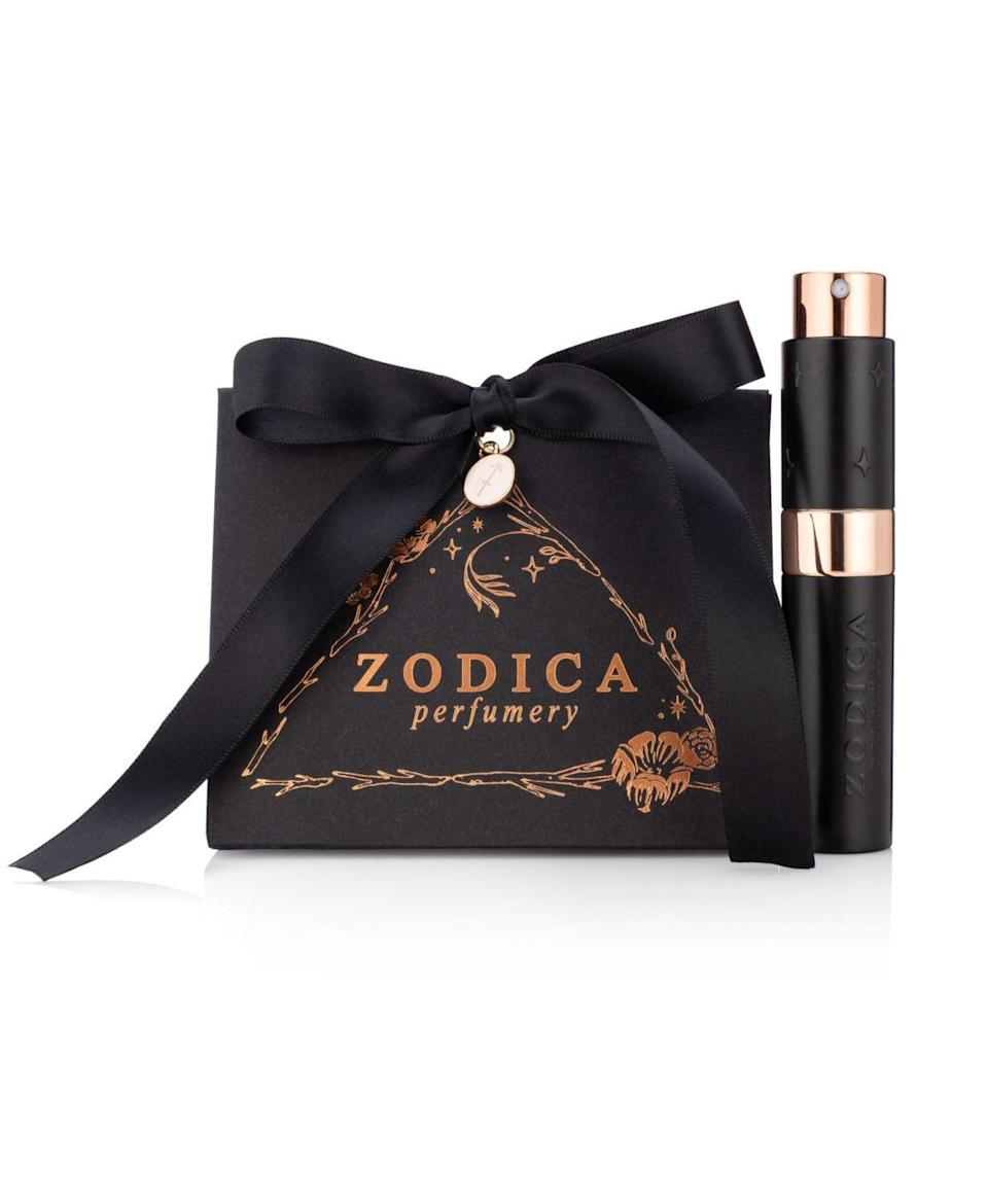 """<p><strong>Zodica Perfumery</strong></p><p>macys.com</p><p><strong>$40.00</strong></p><p><a href=""""https://go.redirectingat.com?id=74968X1596630&url=https%3A%2F%2Fwww.macys.com%2Fshop%2Fproduct%2Fzodica-perfumery-aries-zodiac-perfume-twist-spritz-travel-spray-gift-set-.27oz%3FID%3D7376643&sref=https%3A%2F%2Fwww.housebeautiful.com%2Fentertaining%2Fholidays-celebrations%2Fg24750264%2Fzodiac-gifts%2F"""" rel=""""nofollow noopener"""" target=""""_blank"""" data-ylk=""""slk:BUY NOW"""" class=""""link rapid-noclick-resp"""">BUY NOW</a></p><p>A perfume based on their sign might just become their new signature scent. The Aries-inspired scent, for instance, has notes of cinnamon, blackberry, tobacco flower, and more. </p>"""