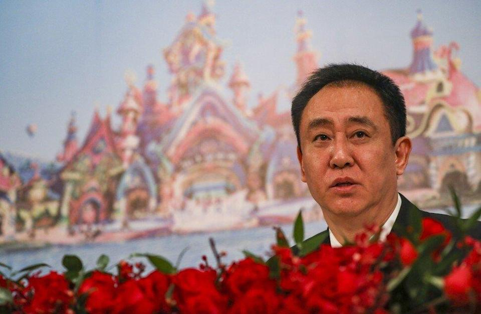 China Evergrande Group's chairman Hui Ka-yan, also known as Xu Jiaying, at the company's annual results press conference at the Island Shangri-La Hotel in Admiralty on March 26, 2019. Photo: Nora Tam