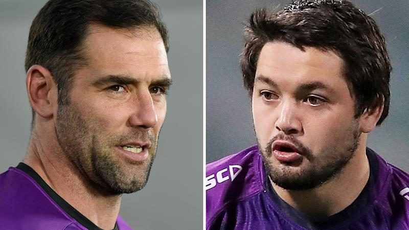 Cameron Smith's potential retirement has been given an added twist, with likely successor Brandon Smith vowing to walk away from the club if his namesake plays on in 2021. Pictures: Getty Images