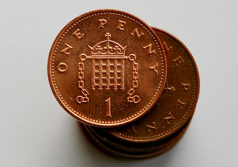 Penny piece pennies 1p coins