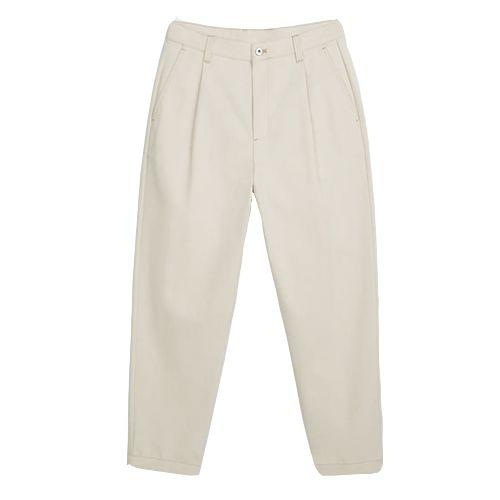 "<p><a class=""body-btn-link"" href=""https://www.zara.com/uk/en/diagonal-textured-trousers-with-pleats-p06861322.html?v1=56838167&v2=1546758"" target=""_blank"">SHOP</a></p><p>Baggier trousers, while enduring, can be divisive. So thank Zara for nailing the perfect inch-to-leg ratio by giving a little breathing room without going full Madness. They're made from reclaimed cotton waste too, which is always good.<br></p><p>Pleated Textured Trousers, £49.99, <a href=""https://www.zara.com/uk/en/diagonal-textured-trousers-with-pleats-p06861322.html?v1=56838167&v2=1546758"" target=""_blank"">zara.com</a></p>"