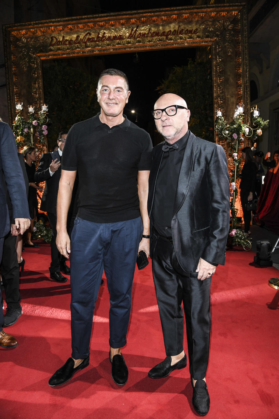 Designer Stefano Gabbana, left, is clarifying controversial comments he made about untraditional families. (Photo: Getty Images)