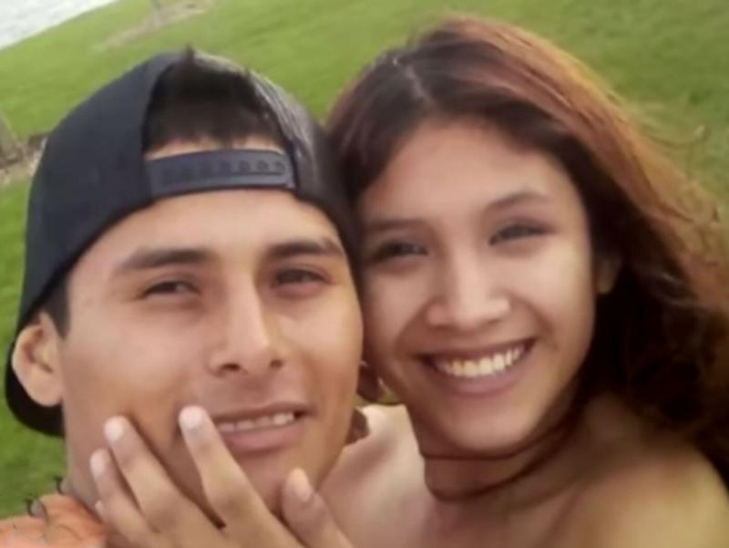 Pictured is Marlen Ochoa-Lopez's husband Yovani Lopez smiling with his wife.