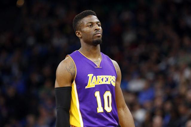 "<a class=""link rapid-noclick-resp"" href=""/nba/players/5762/"" data-ylk=""slk:David Nwaba"">David Nwaba</a> played 20 games for the Lakers. (AP)"