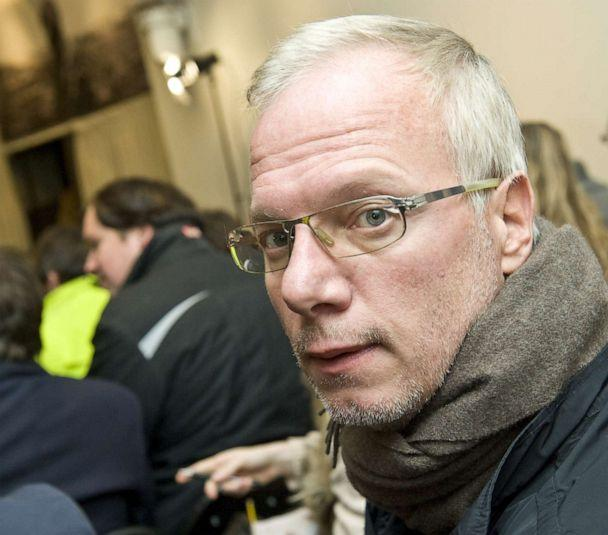 PHOTO: Film maker and former hostage Sean Langan sits in the audience during a WikiLeaks discussion at The Front Line Club in London, Dec. 1, 2010. (REX/Shutterstock, FILE)