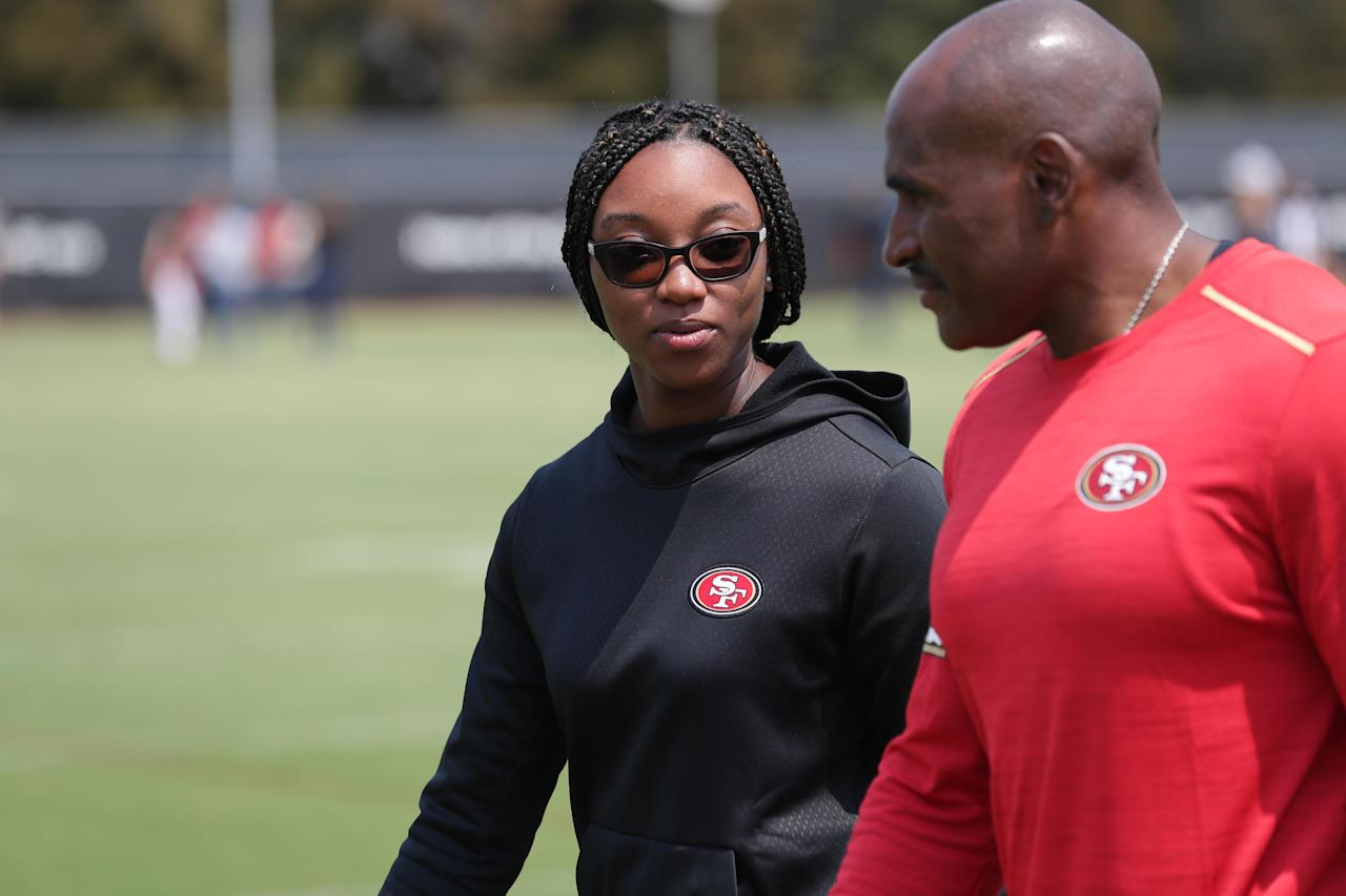 From scout to GM? Here's how 49ers' Salli Clavelle got into the NFL and where she wants to go.