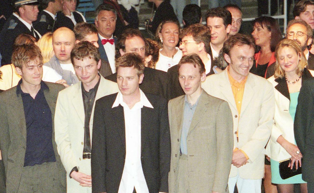 <p>Stars (including Blur's Damon Albarn who sneaked in there) assemble for the premiere – Credit: Rex Features </p>