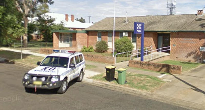 Gunnedah police station is pictured.