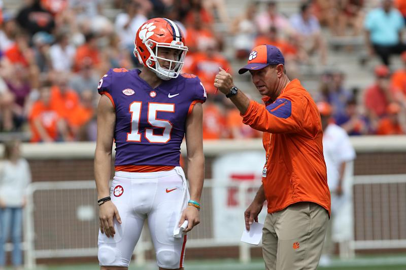 Hunter Johnson once battled for Clemson's starting QB job before transferring. (Getty Images)