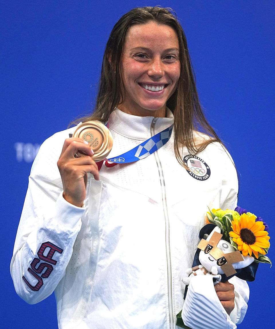 """<p>Biography: 27 years old</p> <p>Event: Women's 200m butterfly (swimming)</p> <p>Quote: """"I did get to stand up on the podium and represent the U.S. That's all that matters here.""""</p>"""