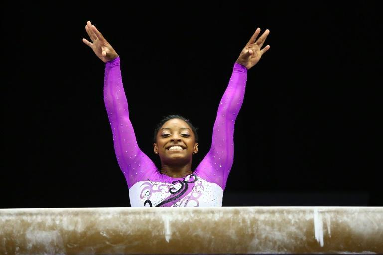US gymnast Simone Biles says she is 'hoping the Olympics can be put on, even if it means we're in a bubble'
