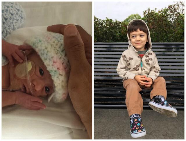 This is my son, Bodhi. He was born at 25 weeks in January 2015 and spent nearly three months in the NICU. He's now a happy, healthy 2-year-old who loves drawing, dancing, singing and being outside.<br><br><i>--Rachel Rose</i>