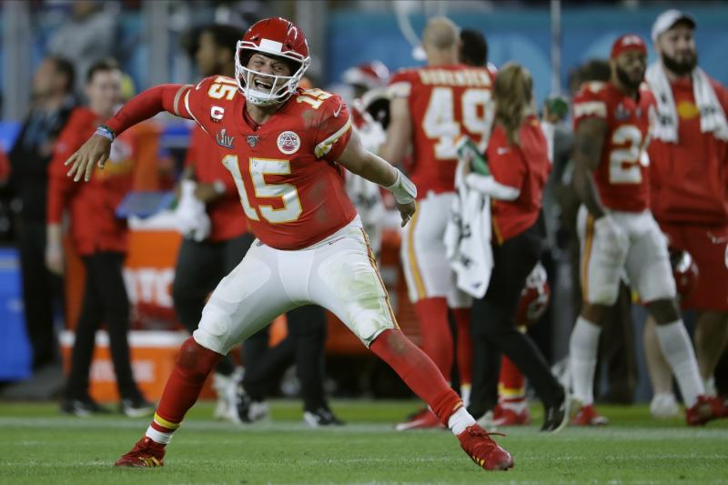 Kansas City Chiefs quarterback Patrick Mahomes won Super Bowl LIV MVP. (AP Photo/John Bazemore)