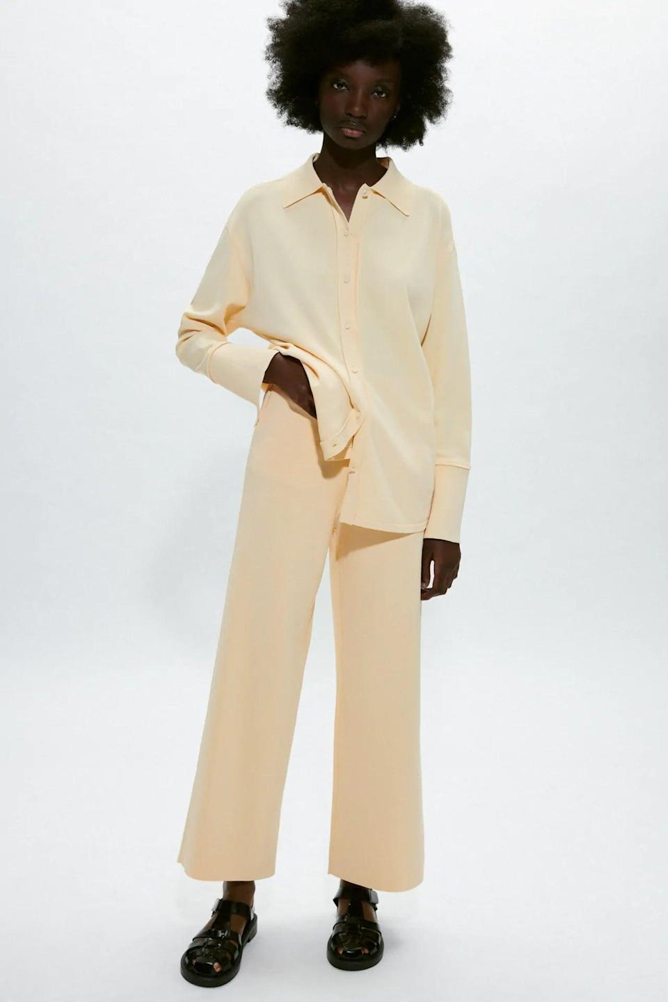 <p>You can find me in these cozy <span>Zara Knit Pants</span> ($50) for the rest of the season.</p>