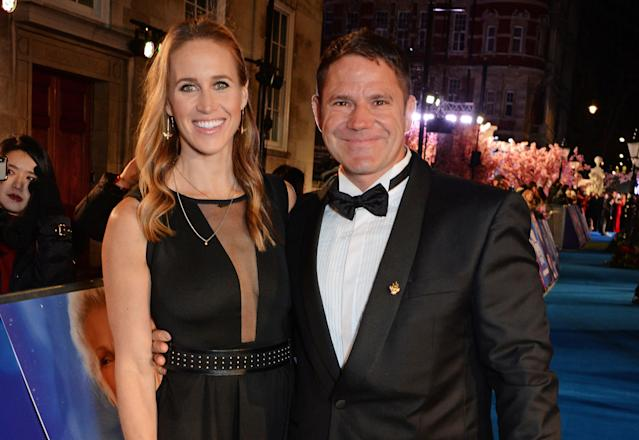 "Helen Glover and Steve Backshall attend the European Premiere of ""Mary Poppins Returns"" at Royal Albert Hall. (Photo by David M. Benett/Dave Benett/WireImage)"