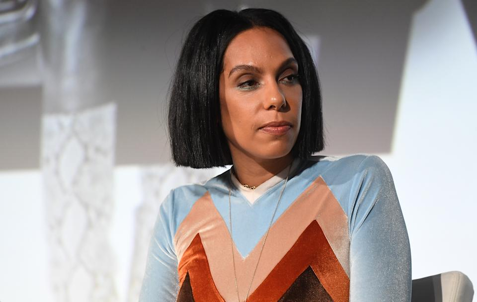 """ATLANTA, GEORGIA - NOVEMBER 22:  Director Melina Matsoukas onstage during """"Queen & Slim"""" screening and conversation at Woodruff Arts Center on November 22, 2019 in Atlanta, Georgia.(Photo by Paras Griffin/Getty Images)"""